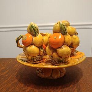 Inarco Vintage 5pc Set Orange\Lemons Vintage Japan